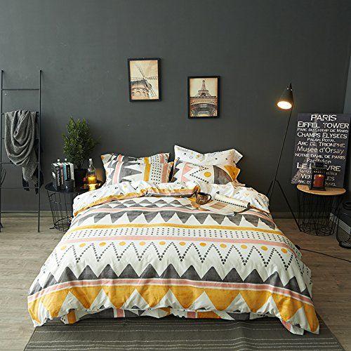 Amazon Com Modern Boho Tribal Bedding Aztec Stripe Print Cotton