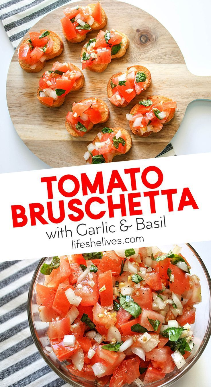 Photo of Tomato Bruschetta With Garlic and Basil