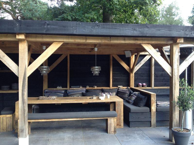 constructie en idee lounge bank in combi tafel Draußen wohnen - gartenmobel selber bauen lounge