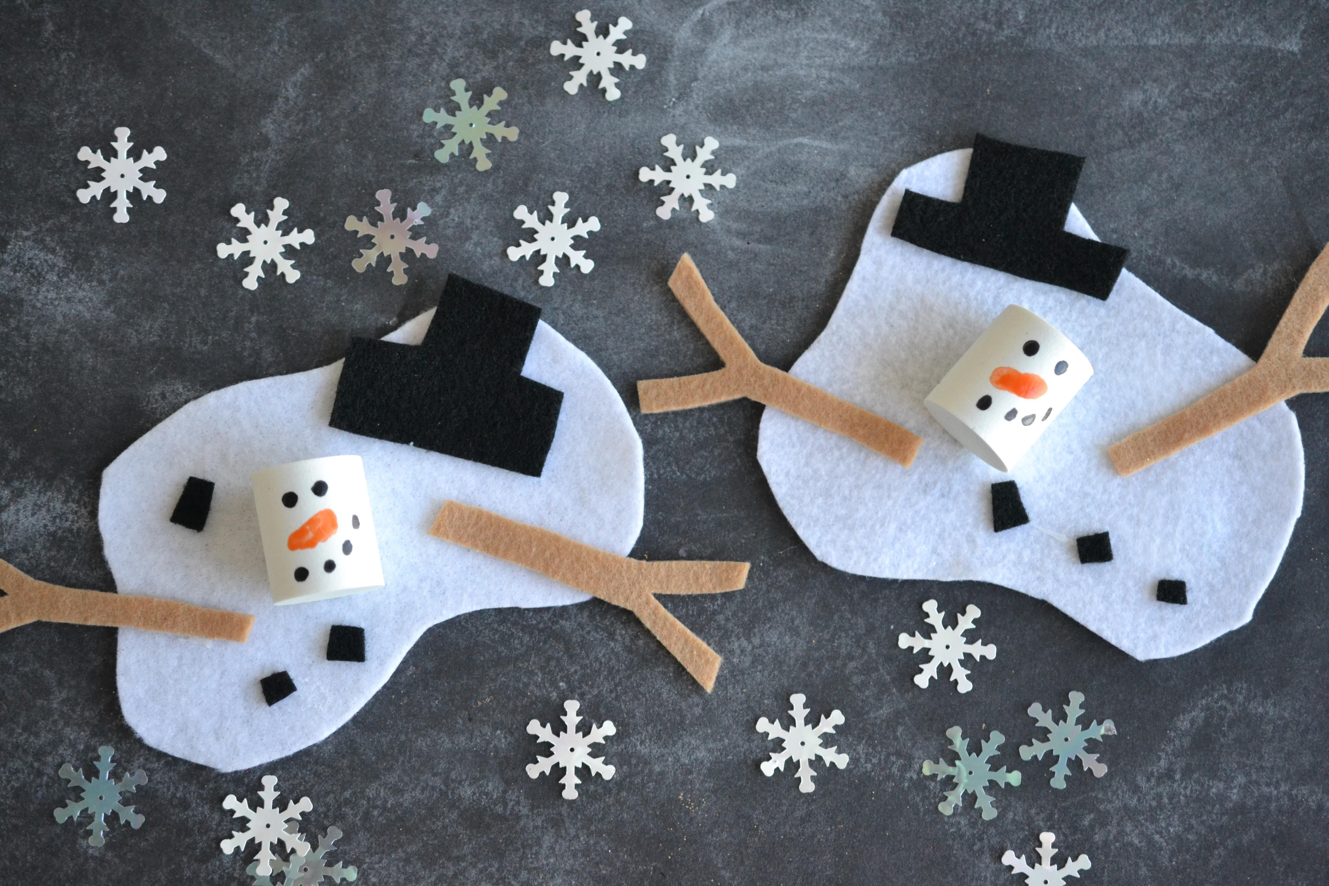 Melted Snowman Craft Project For Kids Darice Classroom Ideas