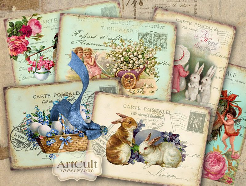 8 vintage easter 25 x35 digital collage sheet printable gift 8 vintage easter 25 x35 digital collage sheet printable gift tags paper craft negle Choice Image