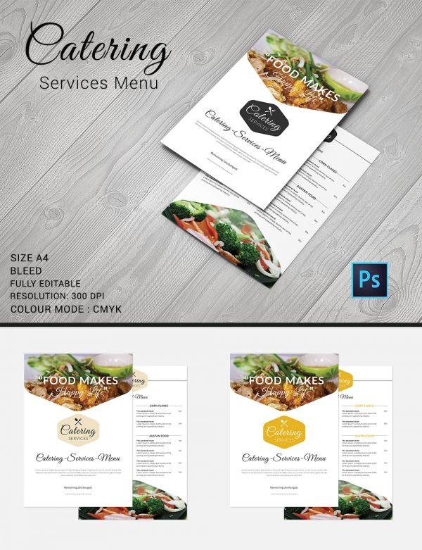 Catering Menu Template Free Psd Eps Documents Download Omaira - Menu brochure template free