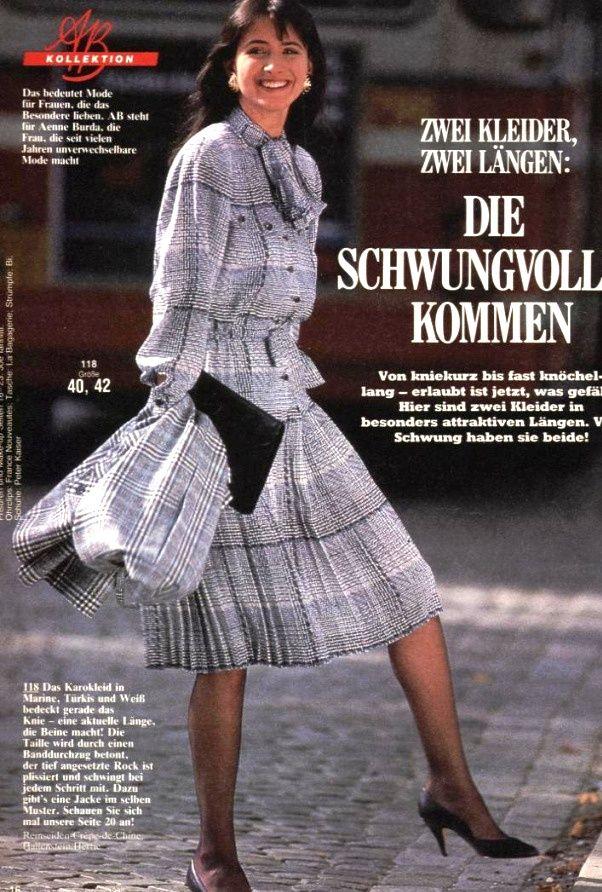 1988 burda moden 1988 80er mode mode kleider - 80er damenmode ...