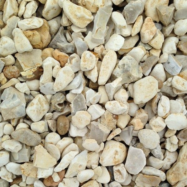 Yorkshire Cream Flint 20mm Gravel Garden Golden Gravel Garden Design