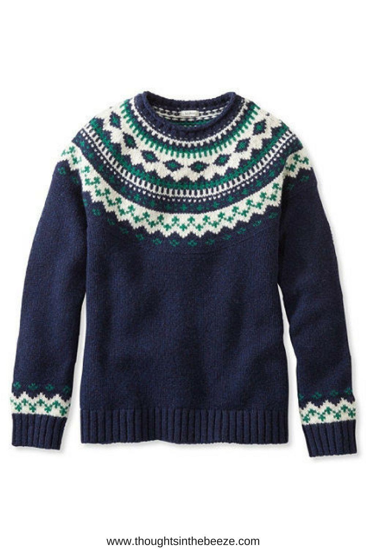 22ced271225  69.95 L.L.Bean Classic Ragg Wool Sweater