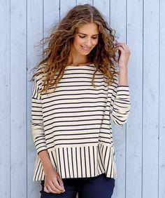 Oversize Bluse mit Streifen
