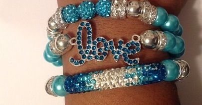 Blue love Bracelets