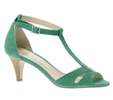 Chaussure vert d\u0027eau