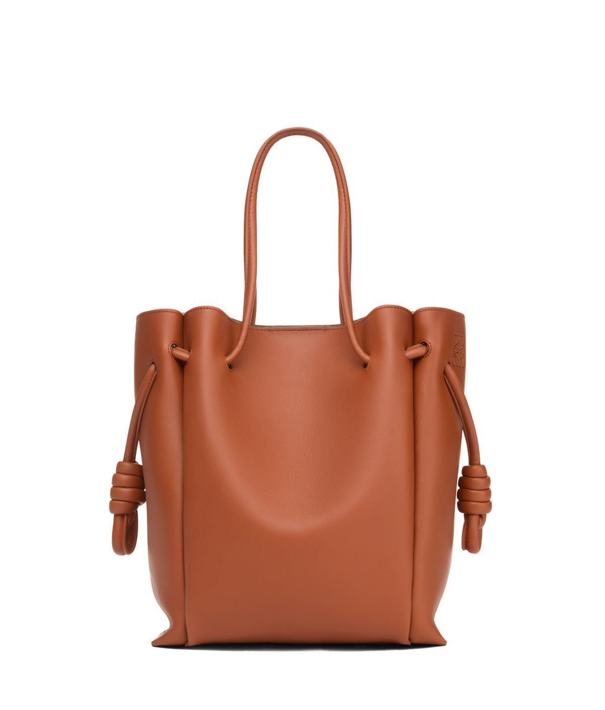 8242db4cff01 Flamenco Knot Tote Small Bag Rust Color - LOEWE