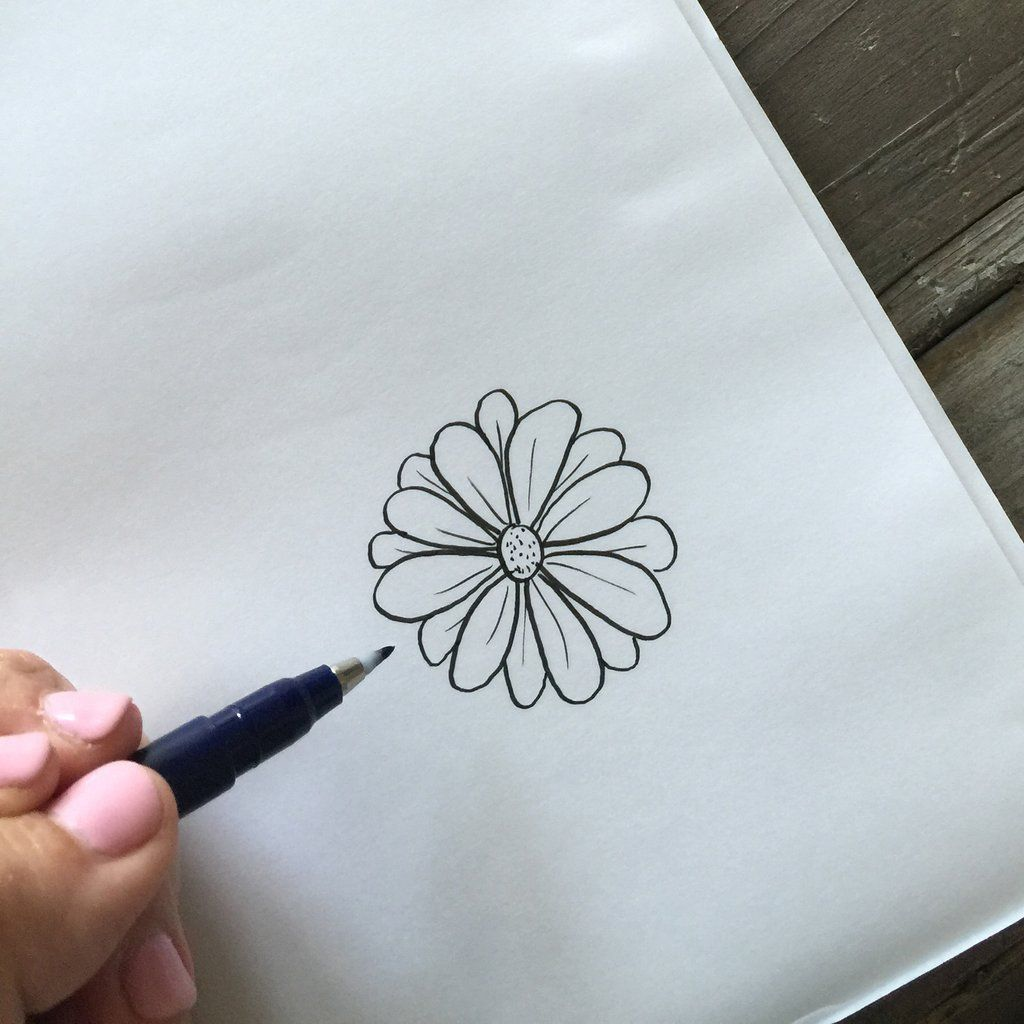 Four Ways To Draw Flowers Open Rose Flowers And Bullet Journals