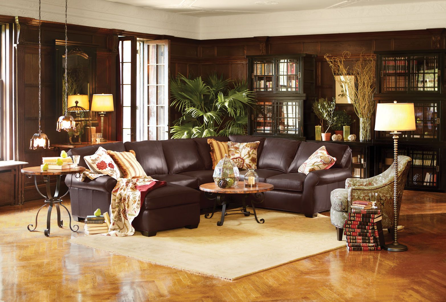 Brentwood Leather Sectional By Arhaus Furniture