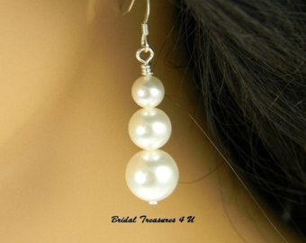 Blanco dama azul pulsera pulsera de la boda por BridalTreasures4U