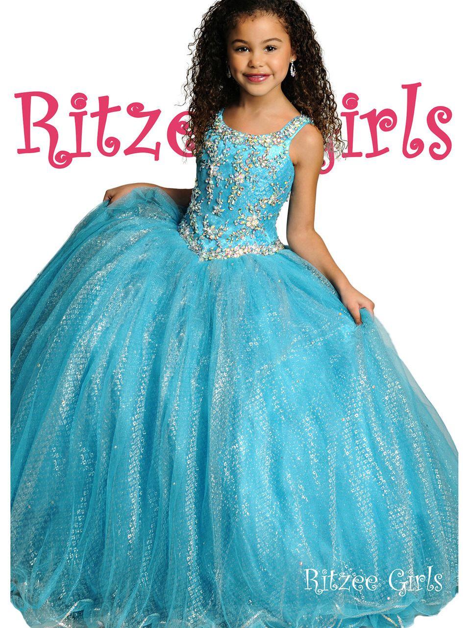 Ball Gown Pageant Dress Ritzee Girls 6800 | Glitz Pageant Girl Dress ...