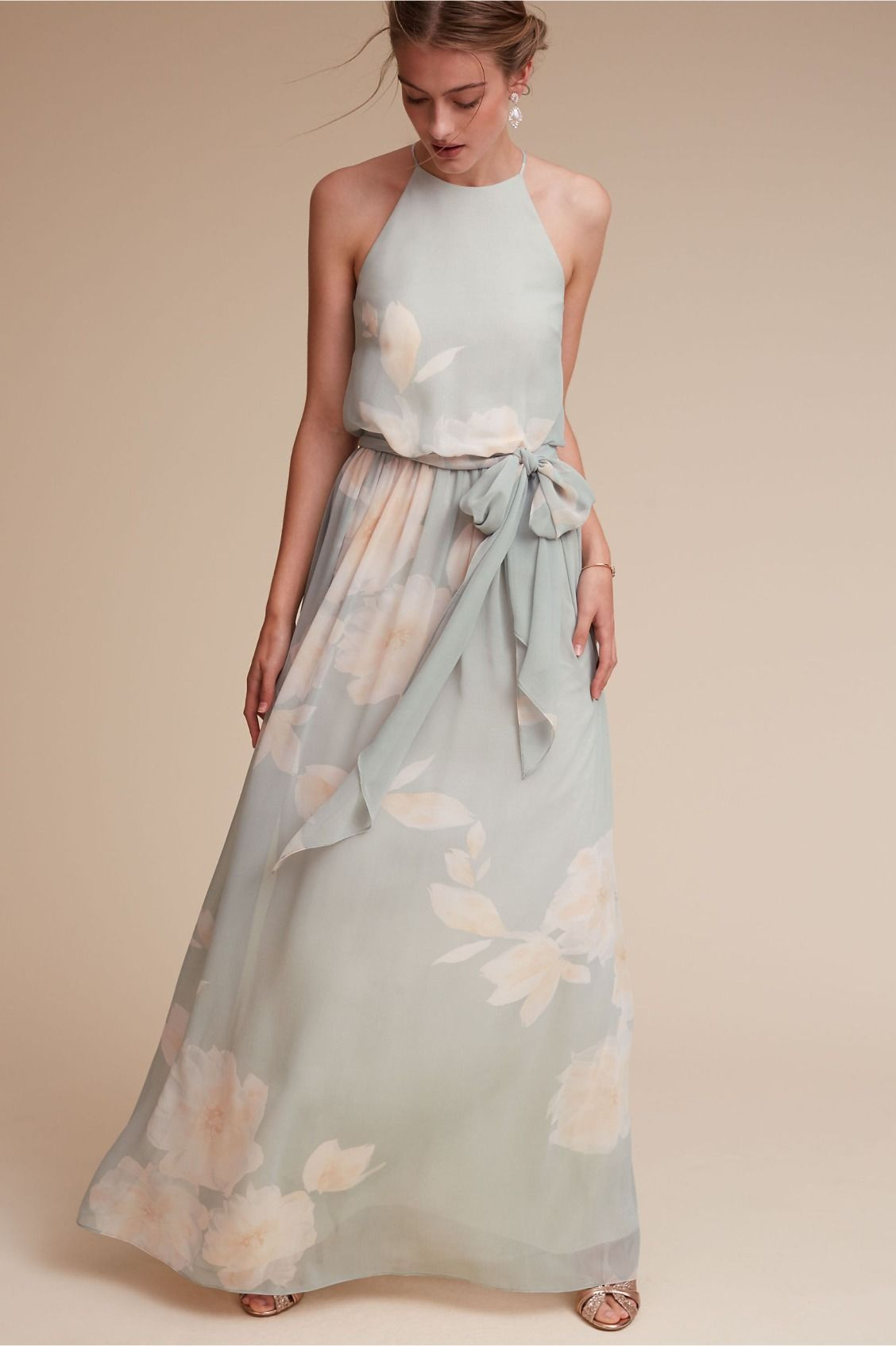 Xo alana dress in mintblush from bhldn pattern play bhldn alana dress in bridesmaids bridesmaid dresses long ombrellifo Image collections