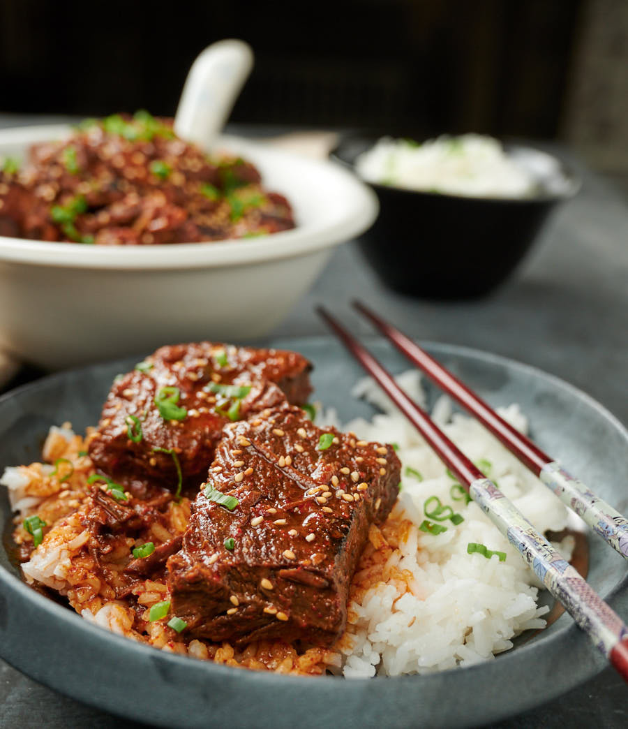 Korean Beef Stew With Gochujang Recipe In 2020 Korean Beef Stew Korean Beef Braised Short Ribs Recipe