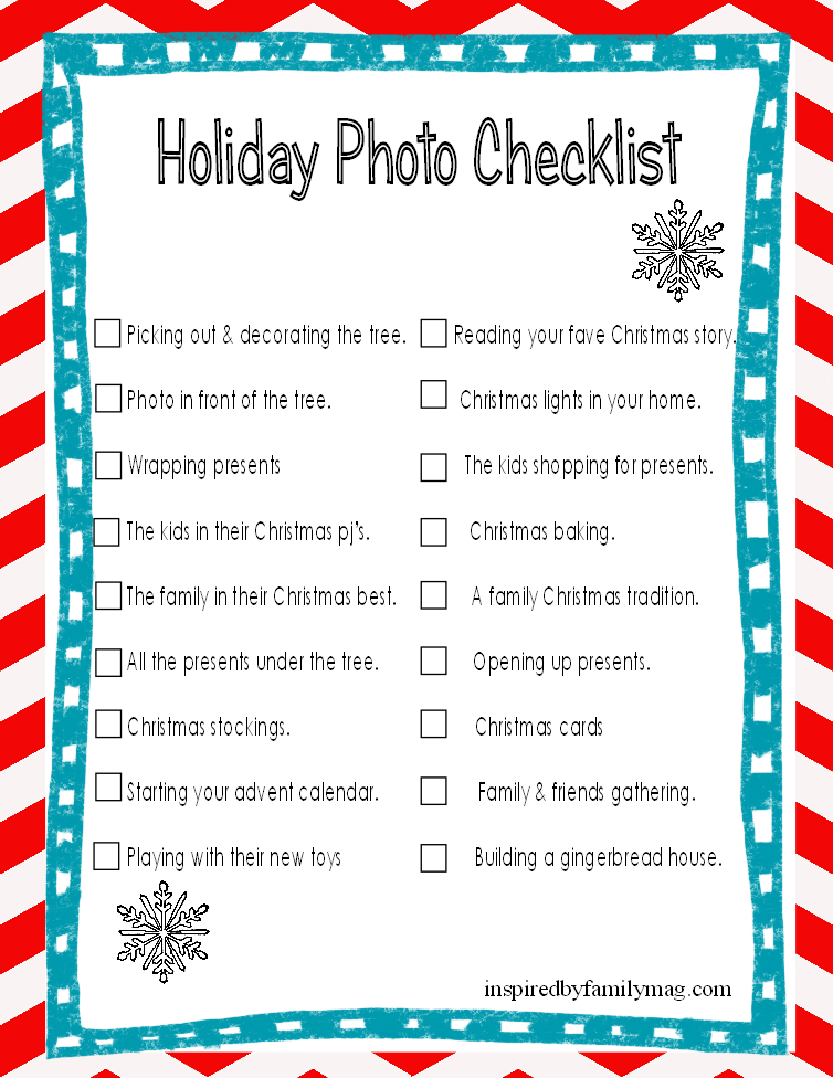 Christmas Gift List Printable Use It To Help Create Your – Christmas Preparation Checklist