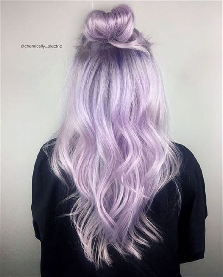 80+ Chic Ombre Lavender Hairstyles With Highlights Trend in 2019 -   11 lavender hair Silver ideas