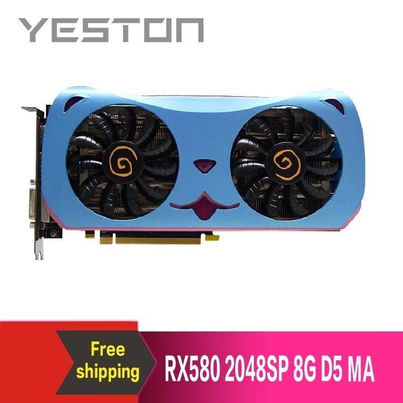 299 72us Yeston Radeon Rx580 2048sp 8g Gddr5 Cute Pet Pci Express X16 3 0 Video Gaming Graphics Card External Graphics Card For Desktop Graphics Cards A Graphic Card Cute Animals Pets