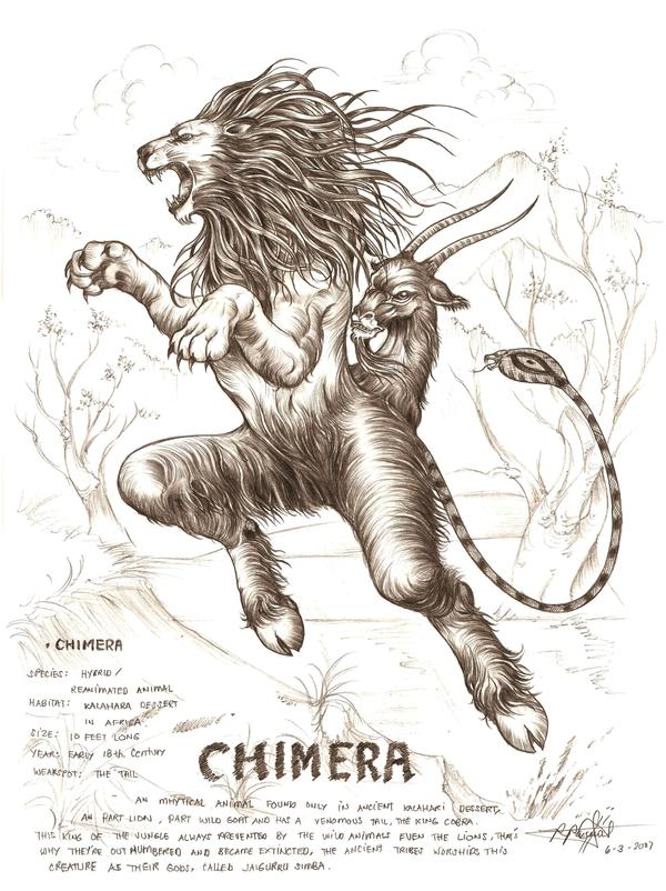 Chimera By Artstain On Deviantart In 2020 Mythical Creatures Art Chimera Mythology Mythological Creatures