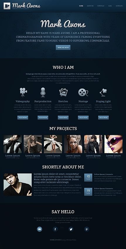 Joomla Blackness UX UI Design Pinterest Ui Design - Cinematographer website templates