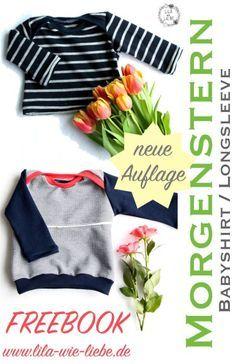 Babyshirt Freebook (Gr.62-80) Morgenstern - die neue Auflage ist da #babyshirts