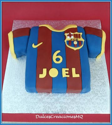 Tarta pastel cumplea os barcelona bar a f tbol bizcocho - Bizcocho cumpleanos para ninos ...