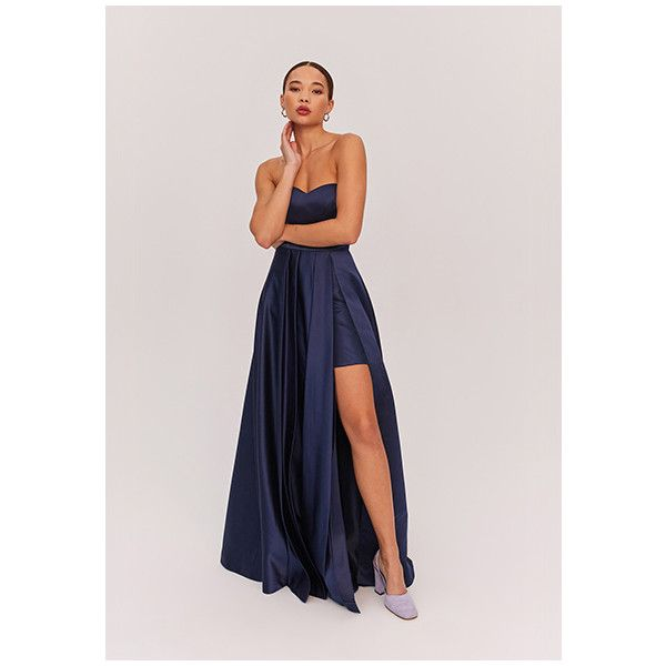 Navy Blue Sarah Dress (£175) ❤ liked on Polyvore featuring dresses ...