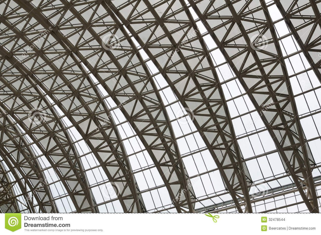 Curved Roof Steel Trusses