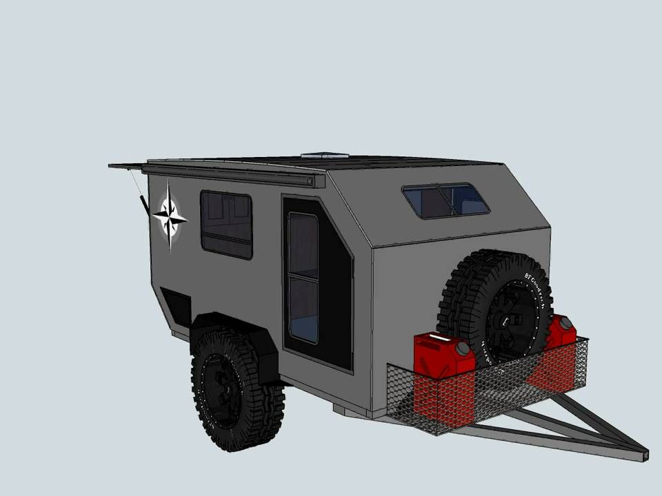 Teardrop offroad trailer camping for Small trailer plans free