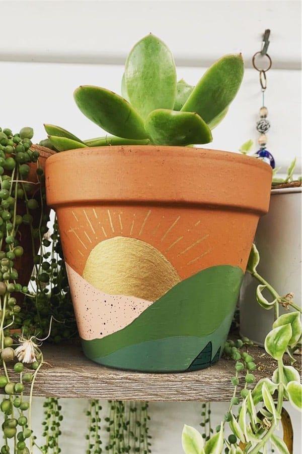 35 Super Creative Painted Flower Pots For 2021 Crazy Laura Plant Pot Diy Painted Flower Pots Plant Pot Design