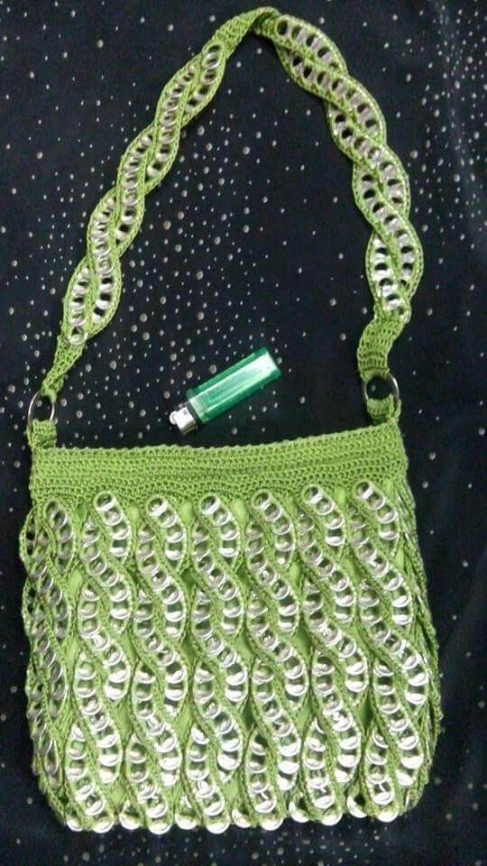 c672d11db Love the pattern on this purse | to make! | Pop tab crafts, Pop tabs ...