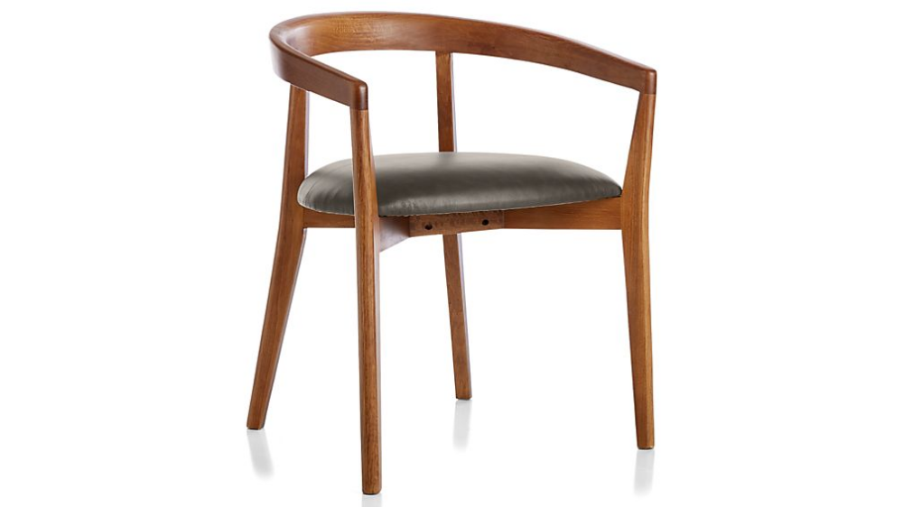Cullen Shiitake Saddle Round Back Dining Chair Crate And Barrel Round Back Dining Chairs Dining Chairs Chair