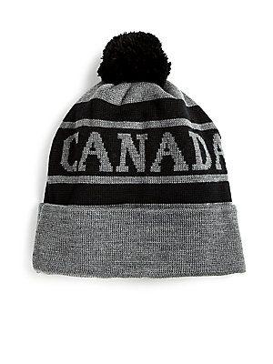 f25a64c1 Canada Goose Logo Pom Hat   Passion For Fashion   Canada goose logo ...