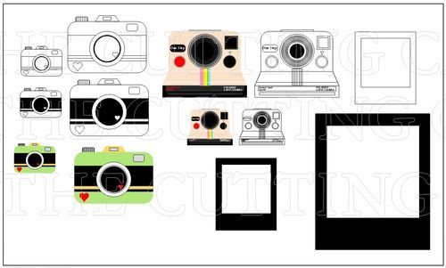 graphic about Camera Template Printable identify POLAROID AND Digital camera Entertaining TEMPLATE AND PRINTABLE Fixed Cameras