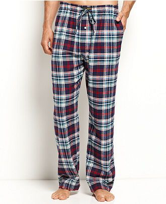 Polo Ralph Lauren Sleepwear, Plaid Flannel Pajama Pants - Mens ...