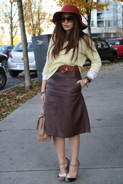 1000  images about Hm brown leather skirt on Pinterest | Lucky ...