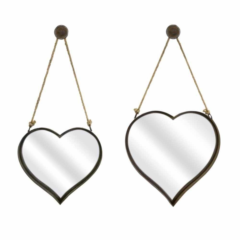 45cm 45 x 45 cm Mungai Mirrors Heart Acrylic Mirror