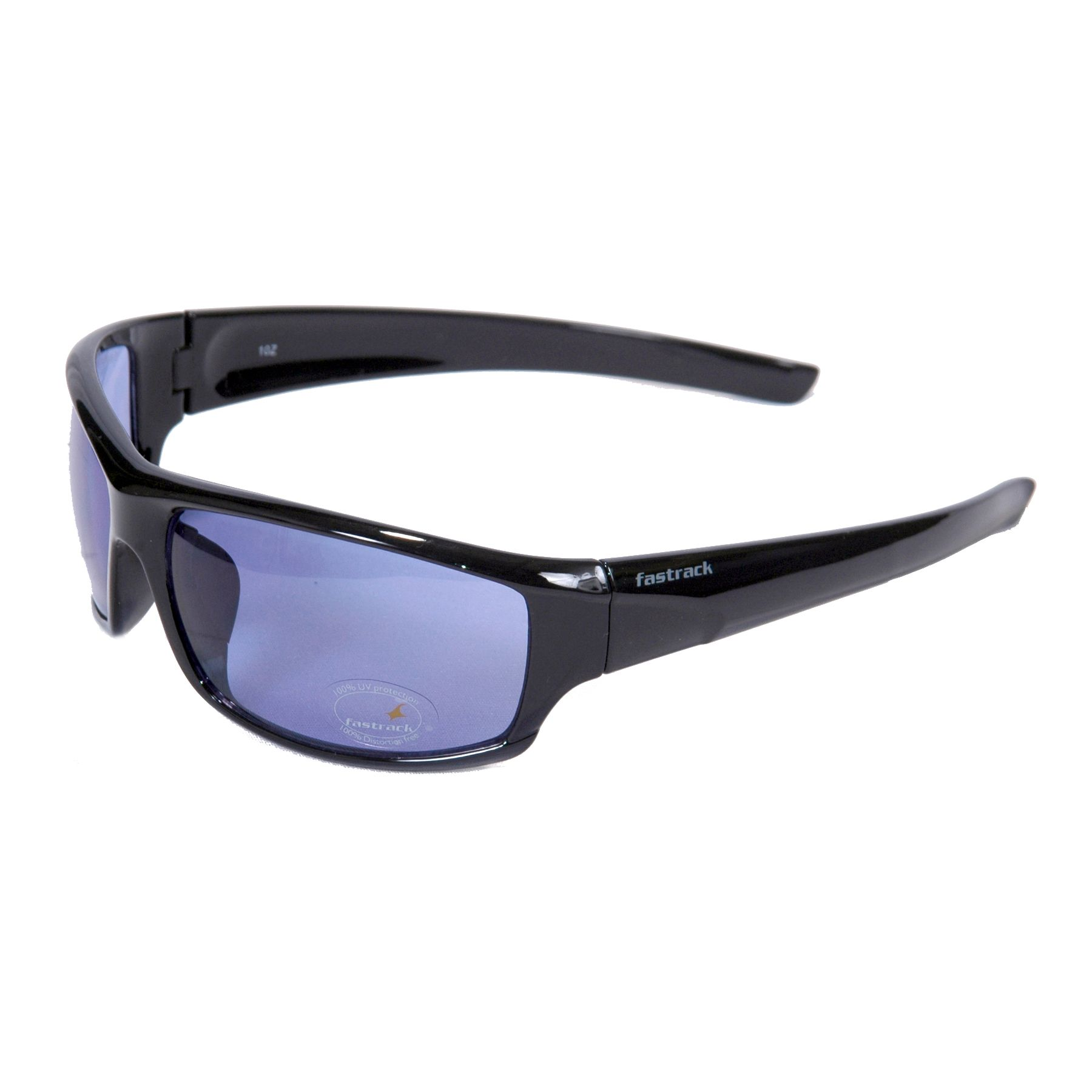 60bc2abfc9b Fastrack P223BU2 Black Blue Sunglasses The full rim frame has integrated  nose pads and well shaped temples which provide comfortable wearing  experience.