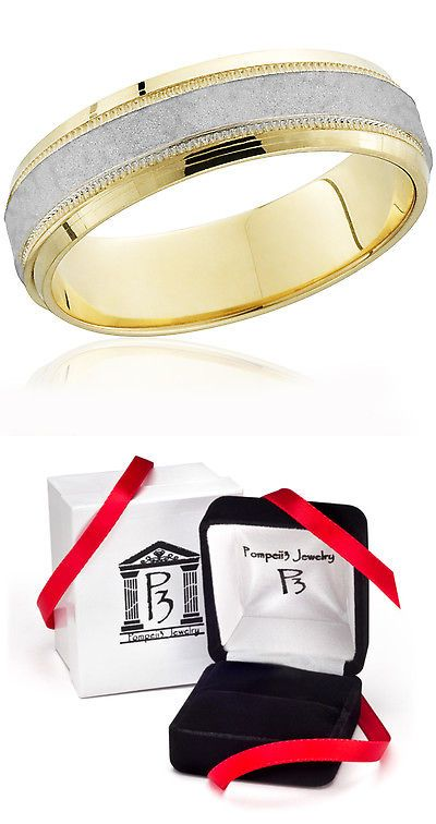 Bands without Stones 92852: Men S Hammered Platinum And 18K Yellow Gold Two Tone Comfort Fit Wedding Band -> BUY IT NOW ONLY: $599 on eBay!