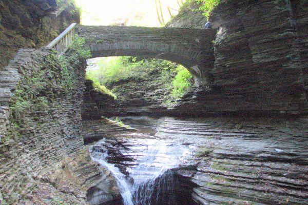 Watkins Glen State Park, New York   Stone Bridge at Watkins Glen State Park, Watkins Glen Finger Lakes NY