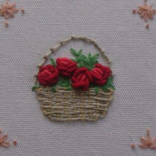 Bullion Knot Roses My Embroidery Work Prin Pinterest Rose