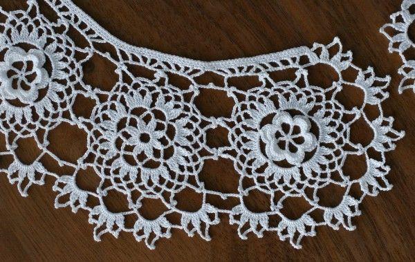 Irish Crochet Lace Collar tutorial - I wonder if I will ever have ...