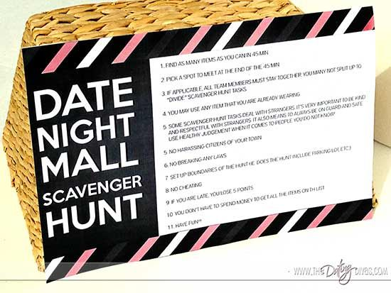 An Interactive Scavenger Hunt Date Night For Two