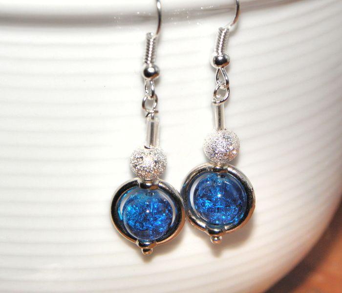 ♥ Ohrringe mit Glasperlen in Crakle Art ♥ von Luisa Ventocilla Shop auf DaWanda.com
