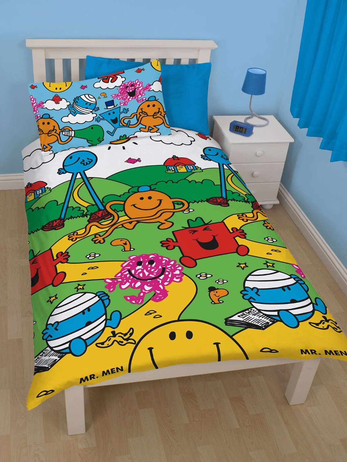 Mr Men Village Single Bed Set Front Single bedding sets