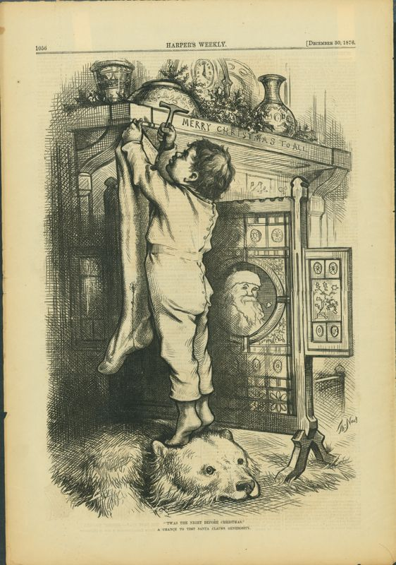 picture relating to Twas the Night Before Christmas Printable Book named 1876 Twas The Evening In advance of Xmas, Harpers Xmas