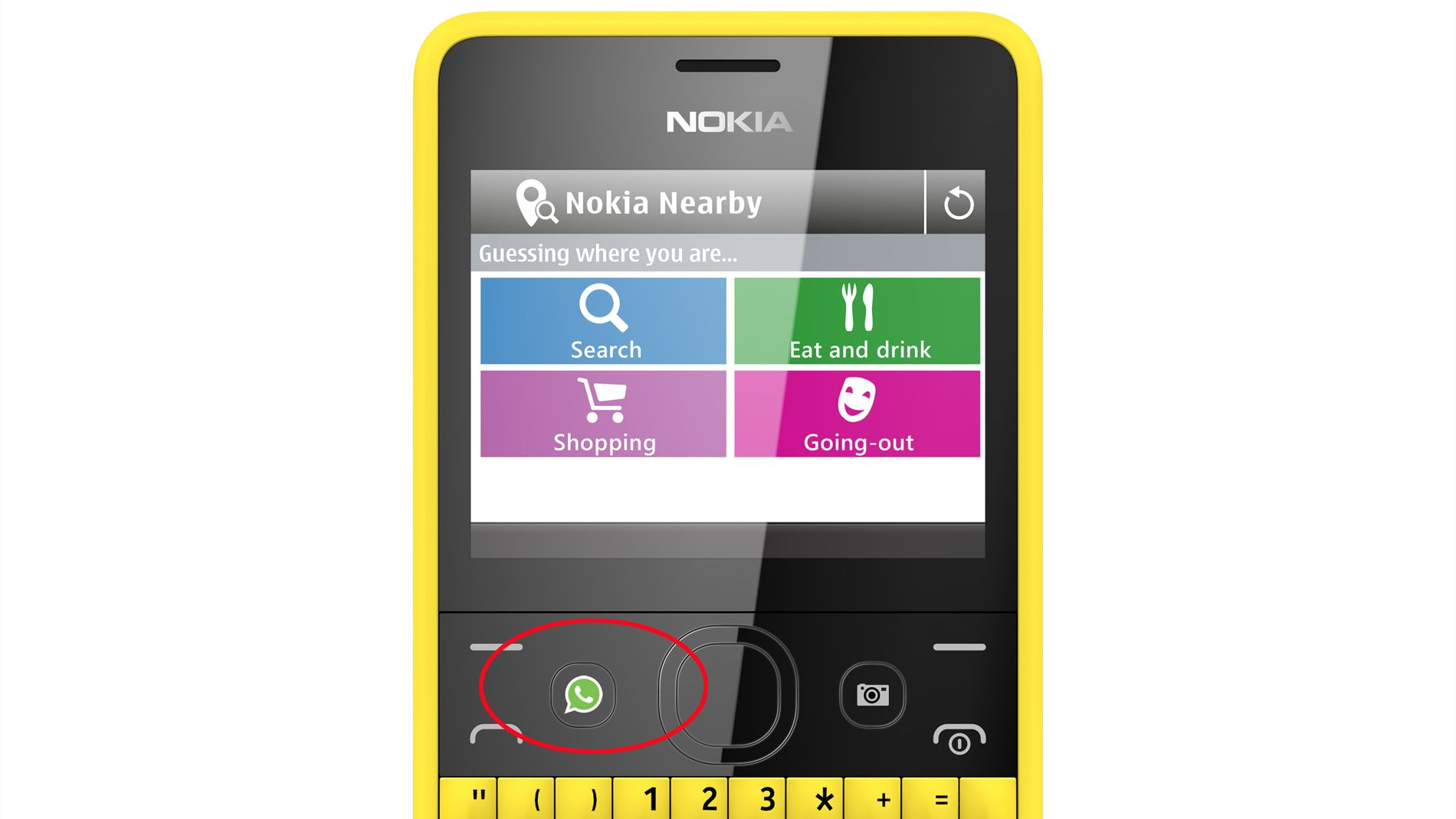 Nokia has added a WhatsApp button for instant messaging to