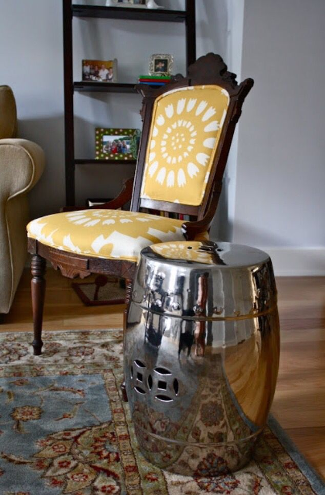 Reupholstery inspiration / vintage chair / mod floral print fabric / home decor by Taylor Ghost