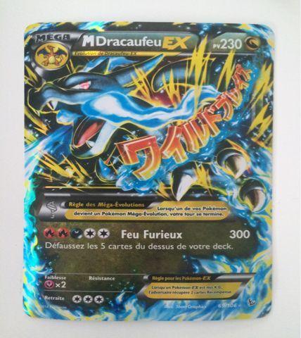 carte pokemon mega dracaufeu ex Carte Pokémon Géante Méga Dracaufeu Ex neuf et d'occasion (met