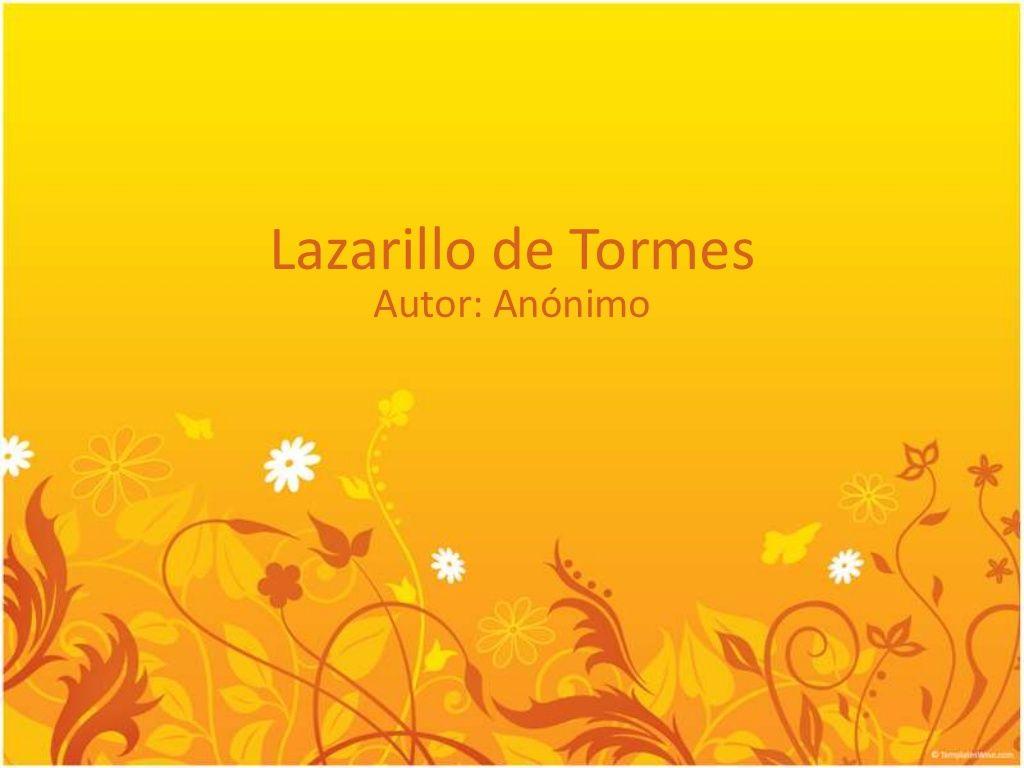 Lazarillo de tormes primer tratado by Maestra de español
